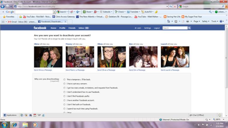 Facebook-farewell