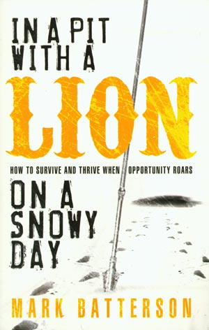 in-a-pit-with-a-lion-on-a-snowy-day